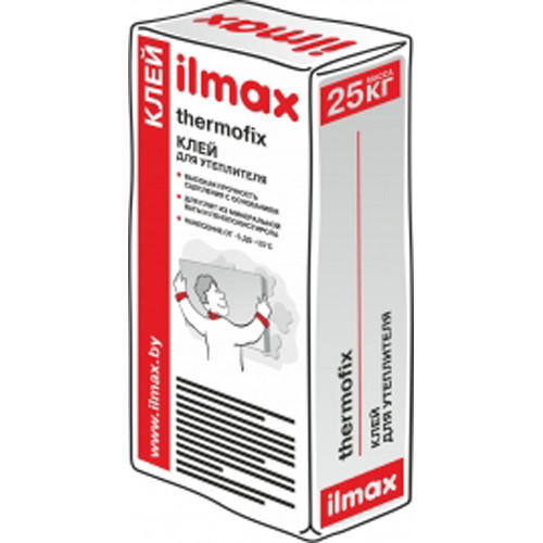 Клей ilmax thermofix для утеплителя, 25 кг